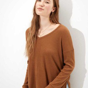 American Eagle Soft & Sexy Plush Long Sleeve Top S